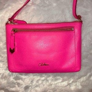 COLE HAAN Neon Pink cross body bag